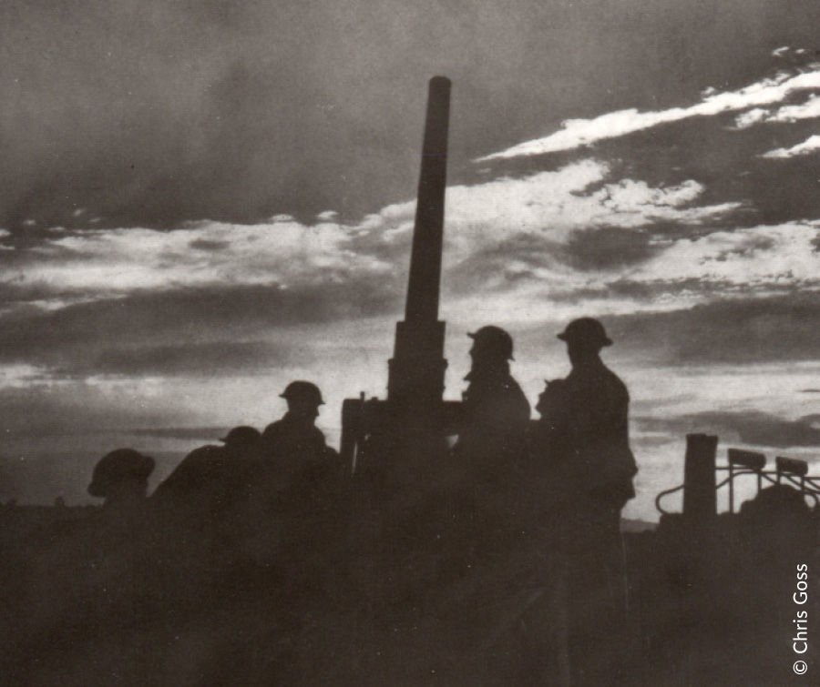 Anti-aircraft gunners waiting for the Luftwaffe
